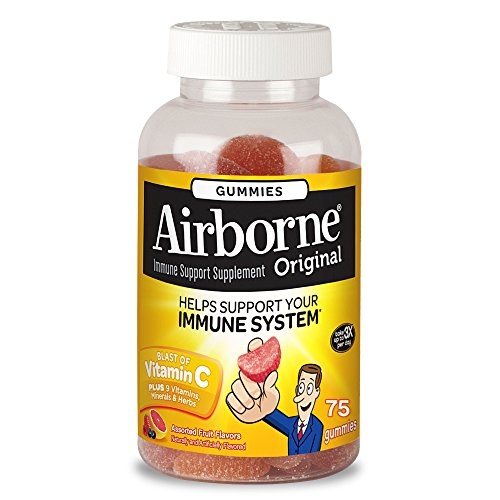 Health & Personal Care : Airborne Assorted Fruit Flavored Gummies, 75 count - Vitamin C plus Minerals & Herbs Immune Support