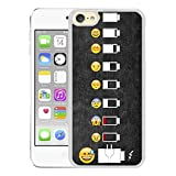 iPod touch 6 Case,Apple iPod touch 6 Case Battery Life Evolution Funny Emoji Meme Smiley Art [PC White]