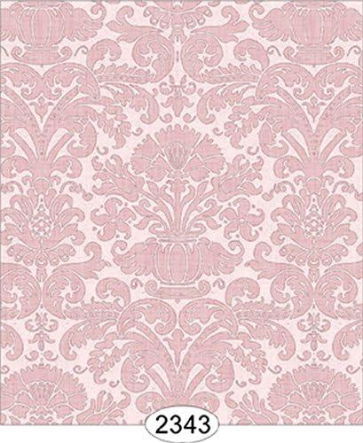 Dollhouse Wallpaper 1:12 Annabelle Mini Reverse Damask Pink Quartz