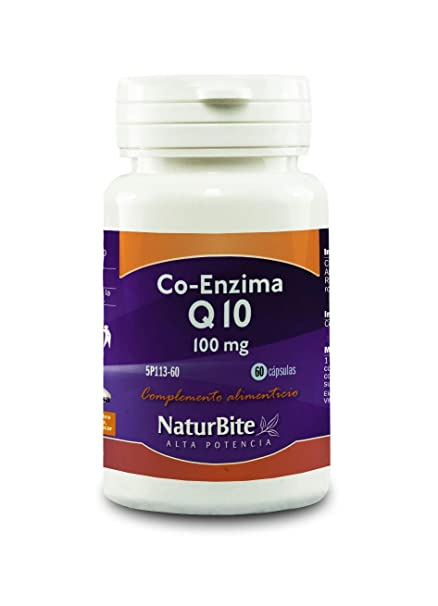 NaturBite Co-Enzima Q10, 100 mg - 60 Cápsulas: Amazon.es ...