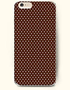 Apple iPhone 6 Case ( 4.7 inches) with Design of White Dots In Brown Background - Polka Dot Series -OOFIT Authentic iPhone Skin