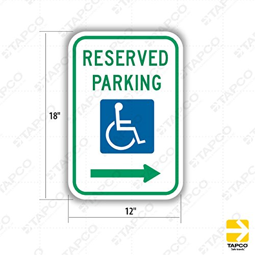 (Tapco R7-8R Engineer Grade Prismatic Rectangular ADA Handicap Sign, Legend