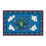 Flagship Carpets Happy World Carpet - 3 x 5 Ft. - Rectangle