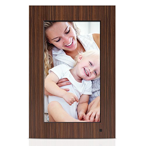 NIX LUX 10.1 Inch Digital Non-WiFi Photo & HD Video Frame, With Hu Motion Sensor – Wood by NIX