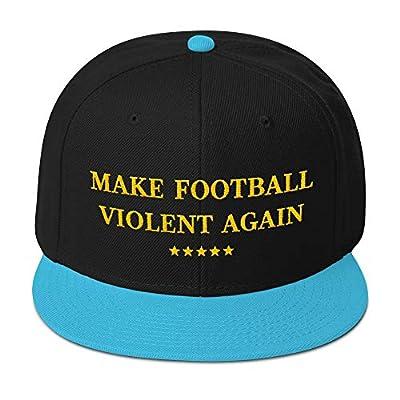 Hogue WS LLC Make Football Violent Again Hat - Jacksonville Jaguars Team Colors - Snapback Hat