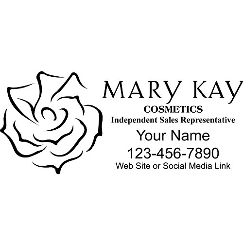 Basic Vinyl® - Mary Kay® Independent Consultant Business Retail Decal - Personalized Custom Advertising for Your Company Vehicle Car Truck (22x9 inch, Gloss Black)