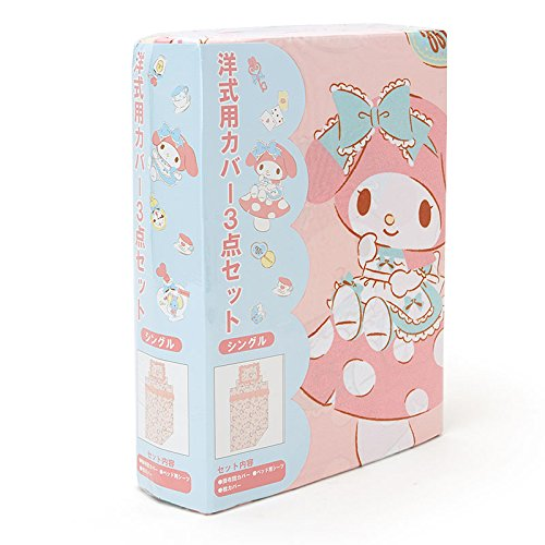 Sanrio My Melody 3-point bed cover set single ruffled From Japan New by Sanrio (Image #2)