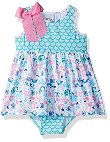 Flap Happy Baby Girls Jaya Skirted Romper, Mermaid Dreams, 6m