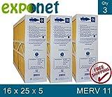 AMANA M1-1056 GENUINE ORIGINAL 16x25x5 (Actual Size: 15-3/8 X 25-1/2 X 5-1/4) MERV 11 MEDIA FILTERS CASE OF 3, PRIME OEM PRODUCT.
