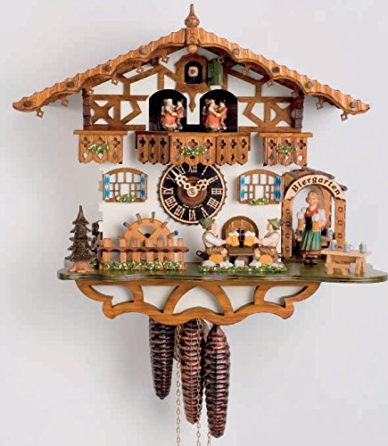 - Chalet Cuckoo Clock 1-Day Bavarian With Beer Drinkers And Waitress