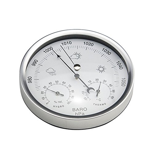 AMTAST Dial Type Weather Station, Barometer with Thermometer and Hygrometer, Simplicity and Easy Reading by AMTAST