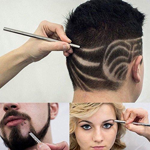 1pen+ 10pcs blades Stainless Steel Haircut Razor Shaving Pen Eyebrow Beards Engraved Razor Pen Salon Kit