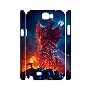 HXYHTY Dragon Customized Hard 3D Case For Samsung Galaxy Note 2 N7100