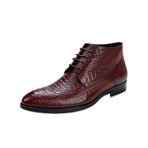 Hombres De Alta Superior Zapatos Británicos, Botines De ...