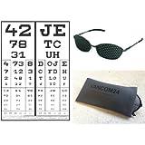 LAG lussuoso Occhiali forati CONICI (stenopeici) Rasterbrille occhi allenatore Pinhole Glasses with Flex Frame! Stenopeico