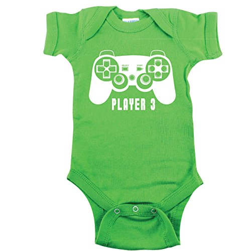Texas Tees Gamer Bodysuit, Gaming Shirt for Baby, Player 3 Bodysuit, Green 0-3 - Game The Outfit Video