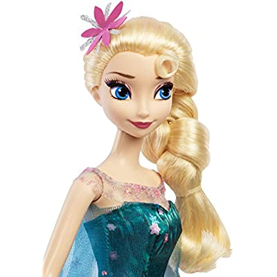 Disney Frozen Fever Birthday Party Elsa Doll (Discontinued by manufacturer): Toys & Games