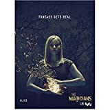 """Olivia Taylor Dudley 8 inch x 10 inch Photograph The Magicians (TV Series 2015 - ) """"Alice"""" Title Poster kn"""
