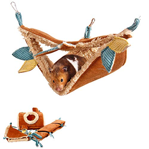 MYIDEA Hamster Jungle Suit – Branch Tunnel/Branch Pile Nest/Hammock (Hammock)