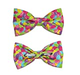 Men's Colorful Jelly Beans Clip On Cotton Bow Tie