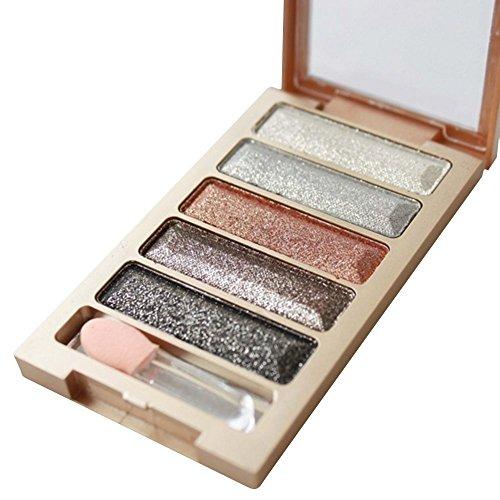 Rosiest New 5 Color Glitter Eyeshadow Makeup Eye Shadow Palette (1#)