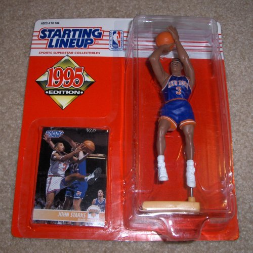 New York Knicks John Starks Action Figure - 1995 Edition Starting Lineup NBA Basketball Series ()