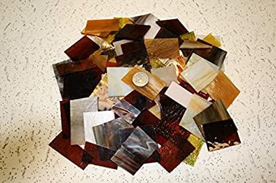 Amber Tones Mix Value Pack - Stained Glass / Mosaics (3 Pounds)