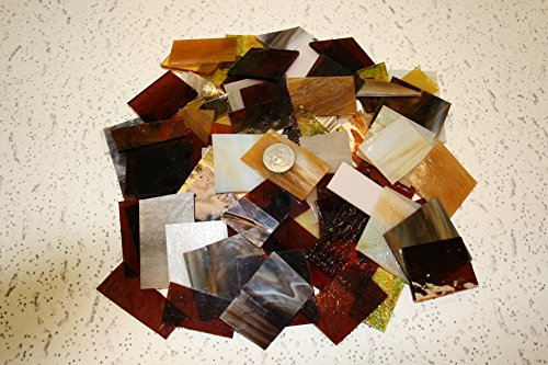 Amber Tones Mix Value Pack – Stained Glass / Mosaics (3 Pounds)