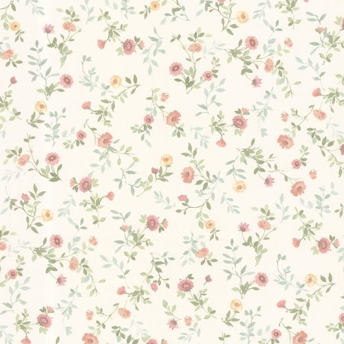 brewster-487-68880-sophie-floral-toss-wallpaper-salmon