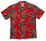 Paradise Found Mens Jungle Bird Tom Selleck Magnum PI Cotton Shirt