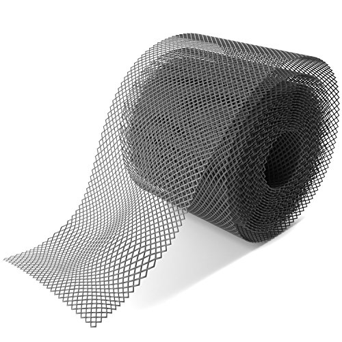 """Home Intuition Gutter Guard Plastic Mesh Guards 6"""" Wide 20'"""