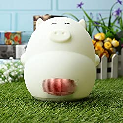 Decorative Lights Decorative Table Lamp - Lovely Cartoon Pig LED Night Sound Control Table Lamp with Alarm Clock USB Rechargeble - 02-1 x Pig Clock Lamp 1 x US