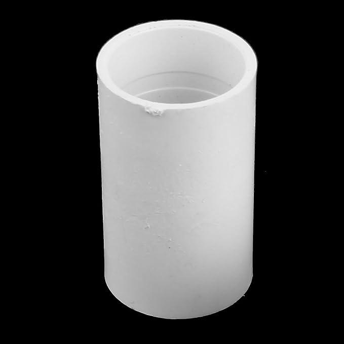 sourcing map PVC recto de 20 mm de di/ámetro interior del tubo de drenaje Conectores de montaje del tubo Blanco 10pcs