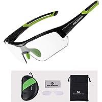 ROCKBROS Zonnebril, fotochromatische bril, half montuur, uv-bescherming, ultralicht