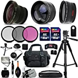 Deluxe 28 Piece Accessory Kit for Sony Alpha a5100, a6000, a5000, a3000, Alpha 7 II, 7S, 7R, Alpha 7, SLT-A77 II, SLT-A99, SLT-A58, SLT-A57, SLT-A37, SLT-A77, SLT-A35, SLT-A65, SLT-A55, SLT-A33, Alpha NEX-3, NEX-3N, NEX-5N, NEX-5R, NEX-5T, NEX-6, NEX-7, NEX-F3 Cameras Includes: 58mm Super High Definition FishEye Lens + 58mm High Definition 2X Telephoto Lens + 58mm High Definition Wide Angle Lens +