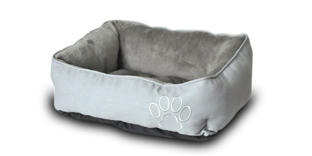 PetPaw Print High Quality Pet Bed for Dog or Cat available in 3 sizes, Easy-to-Clean, 100% Machine Washable
