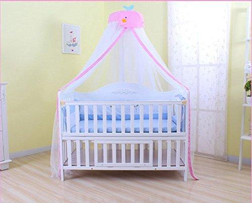 Mosquito Net - IFELES Toddler Bed Crib Canopy Mosquito Netting (pink)