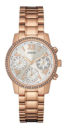 Guess Women's Quartz Watch with Stainless Steel Strap, Gold, 22 (Model: W0623L2)