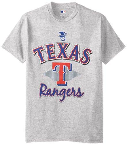 MLB Texas Rangers Men's 58T Tee, Steel Heather, XX-Large