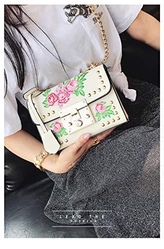 Pour color sac En Femme À Bandoulière De Créateur Pu Zhuhaimei Simple noir Cuir Broder wa4qxRX