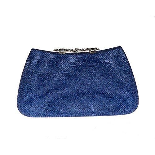 Azul de Bolsa KAXIDY de Tarde Cartera Azul Bolsa para Bolso Mujer mensajero mano de Embrague Y6xwzqT6