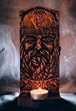 Odin casket in viking nordic Scandinavian pagan style with runes (senior futark) FREE SHIPPING hand carving