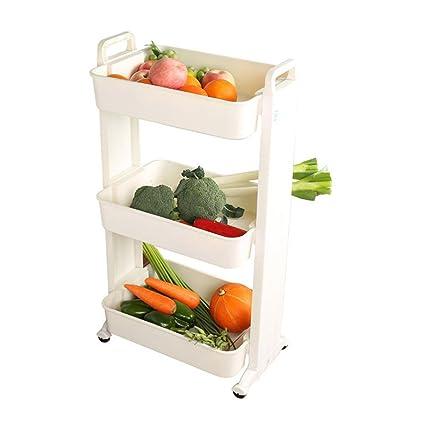 Gentil Kitchen Vegetable Racks Multi Storey Home Plastic Fruit Storage Rack Move  Fruit And Vegetable Shelf