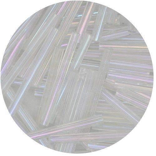 Czech Glass Bugle Beads 25mm (1 inch) Crystal Iris Lust Decoration for Halloween Costume