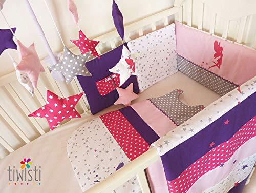 Tour de lit coussins et gigoteuse 0-6 mois motif fée, de couleur ...