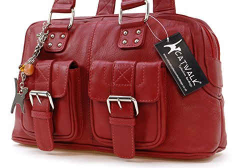 CAROLINE CATWALK Bolso Rojo COLLECTION Cuero ZnnxB5W