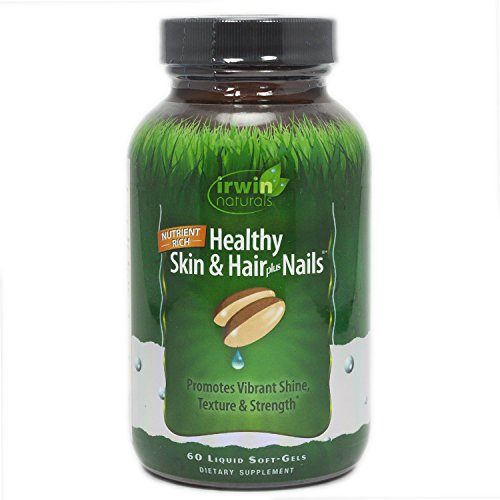 Healthy Skin & Hair Plus Nails by Irwin Naturals, Nutrient Rich, Provides Shine and Strength, 60 Liquid Softgels