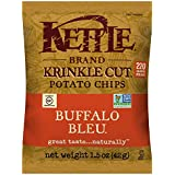 Kettle Brand Potato Chips, Krinkle Cut Buffalo Bleu, Single-Serve 1.5 Ounce (Pack of 24)