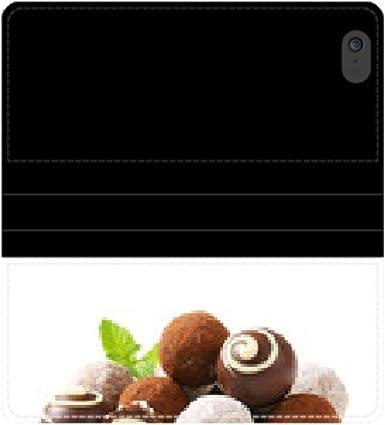 Trufas de chocolate and bombones de caja de la carpeta de ...