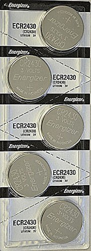 5x Energizer CR2430 (ECR2430BP) Lithium Coin 3v Button Cell battery